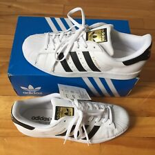 Adidas Originals Superstar Shoes Men's White/Black/Gold Sneakers