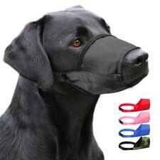 Nylon Dog Anti-Bark Bite Muzzle Adjustable for Small Large Pet Dogs Chew Muzzles