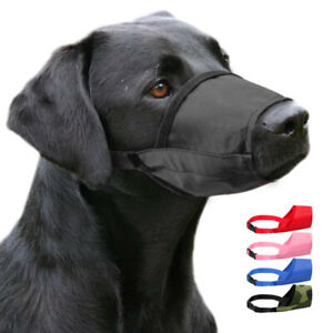 Nylon Dog Anti-Bark Bite Muzzle Adjustable for Small Large Pet Dogs Chew Muzzles