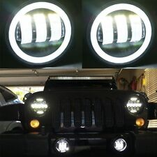 2X 30W 4 inch Led Fog Light Bulb White Halo Jeep Wrangler Jk LJ Dodge Chrysle
