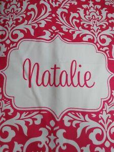 Personalized Name Damask Blanket (Natalie, Parker)