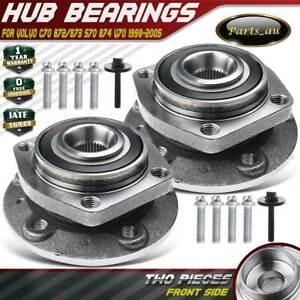 2x Front LH + RH Wheel Bearing Hub for Volvo C70 872/873 S70 874 V70 1998-2005