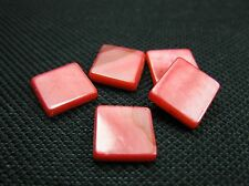5 Perlmutt Quadrate 10x10mm lachsrosa Perlen 9734