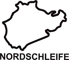 x2 Nurburgring Nordschleife Circuit Race Track Outline Vinyl Decals Stickers