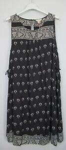 Fat Face Ladies Alison Gem Dress Black Geo Print Summer  sizes 8 -18