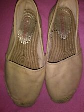 Lilly Pulitzer Lia Espadrille  Womens Gold Metallic Flat Slip On Shoes Size 8 💟