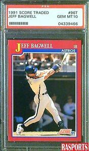 1991 SCORE TRADED JEFF BAGWELL ROOKIE #96T PSA 10 GEM MT