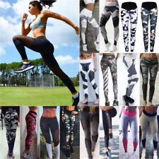 Womens High Waist Jogging Yoga Fitness Leggings Gym Sports Pants Stretch Trouser