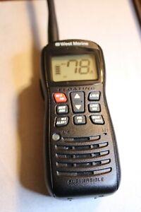 West Marine VHF 160 Handheld Marine Radio VHF, WX     (Body Only)