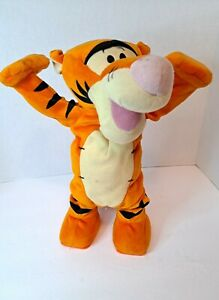 """Disney Fisher Price Tumble Time Tigger 12"""" Plush Toy H1567 Tested """"Not Working"""""""