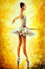 "In The Ballet Class — Oil Painting On Canvas By Leonid Afremov.  Size:24""x36"""