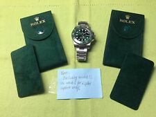 New style❗️2 Authentic Rolex service Velvet travel Pocket Pouches . W/ ⌚️ plate.
