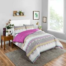 Boho Boutique Margo Reversible Comforter Set, King, Berry 100 % Cotton