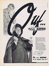 PUBLICITE ADVERTISING 074 1957 ASPRO Ouf merci