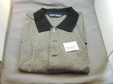 Men's Polo Golf Ralph Lauren Polo Shirt Black & White Diamond NWOT M S59