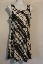 NEW Womens Short Summer Dress Size Large Sleeveless Above Knee Black White