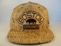 Boston Bruins NHL Zephyr Snapback Hat Cap Cork Dynasty
