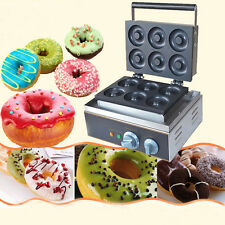 110V electric six pieces Donut Maker Machine,commercial donut making machine