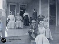 Victorian Farm Family in Period Clothing Antique Photo Dry Plate Glass Negative