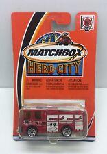 Matchbox Hero-City #44 Dennis Sabre Fire Truck Red Mattel 2002