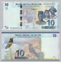 Bolivien / Bolivia 10 Bolivianos 2018 p248 unz.