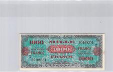 """Trésor 1000 Francs """"FRANCE"""" Type 1945 Série 2 n° 90108351 Pick 125b"""
