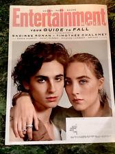 Entertainment Weekly Magazine November 2019 Saoirse Ronan Timothee Chalame