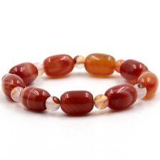 Red Onyx Agate Gemstone Tibet Buddhist Prayer Beads Mala Bracelet---14mm*10mm