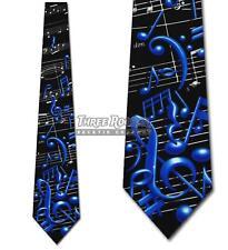 Music Notes Ties Sheet Music Necktie Treble Clef Neck Tie NWT