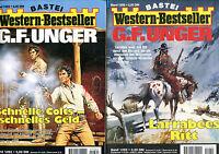 2 alte Hefte Western-Bestseller G. F. Unger (Bastei) Nr. 1255 und 1262