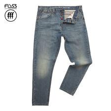 FLY53 MENS BLUE SAND SORREN JEANS (30R) RRP £60  - SAVE 75% OFF