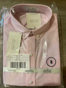 Janie & Jack Special Occasion Boy's Pink Button Down Dress Shirt Size 8