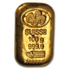 SPECIAL PRICE! 100 gram Gold Bar - Various Brands - SKU #172376