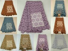 latest cord lace fabrics 2020 mesh milky lace fabric with stones women party 5 y