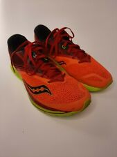 Saucony Kinvara 9 Everun Men's Running Shoes sz. 11 Orange Red Green Sneakers