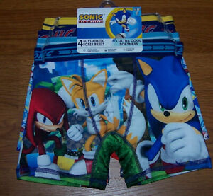 Size (6) Boys Sonic the Hedgehog Athletic Boxer Briefs 4-pk