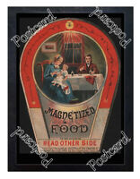 Historic Magnetized Food 1890s Advertising Postcard