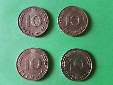 10 Pfennig Bank Deutscher Länder 1949 D, F, G und J