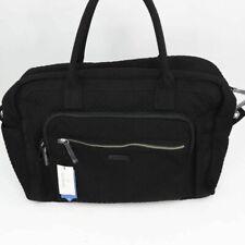 Vera Bradley Womens Iconic Weekender Travel Bag Black Detachable Strap Zip New
