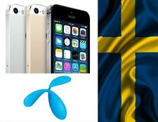 Factory Unlock iPhone 4 4s 5 5c 5s 6 7 locked to Telenor SWEDEN