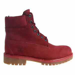 Timberland Premium 6' Waterproof Boot Men's Shoes Burgundy tb0a1qyg