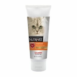 Nutri-Vet Cat Hairball Support Paw Gel | Hairball Remedy for Cats | Tasty Salmon