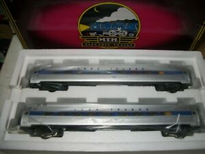 MTH Rail King 2 CAR AMFLEET LONG ISLAND PASSENGER SET 20-66058 NIB