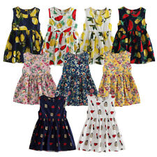 Newborn Baby Girls Toddler Flower Summer Dress Sleeveless Party Wedding Dresses