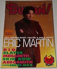 BURRN! MAGAZINE Japan 98' NIKKI SIXX MEGADETH DIO SLAYER ERIC MARTIN Metal lp cd