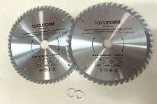 2PC TCT Drop Saw/Compound Mitre Saw Blade 254mm 48T,60T Bore 30/25.4/16/10