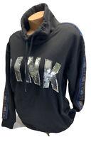 NWT victoria's Secret PINK long Sleeve Bling Cowl Neck Sweatshirt S