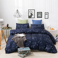 Bed Sheets Set Quilt Pillows 3-Piece Printed Bedding Twin/Queen/King (US Size)