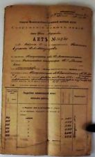 RUSSIA RARE DOCUMENT CONTRACT BUILDING THE TRAIN RAILWAYS MOSCOW - VORONEZH 1915