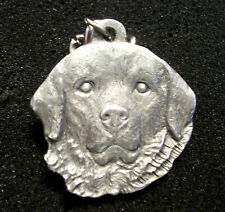 """GREAT PYRENEES Pewter Keychain  """"I Heart My GREAT PYRENEES on Reverse""""  1983"""